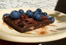 čokoládovo-kávové brownies