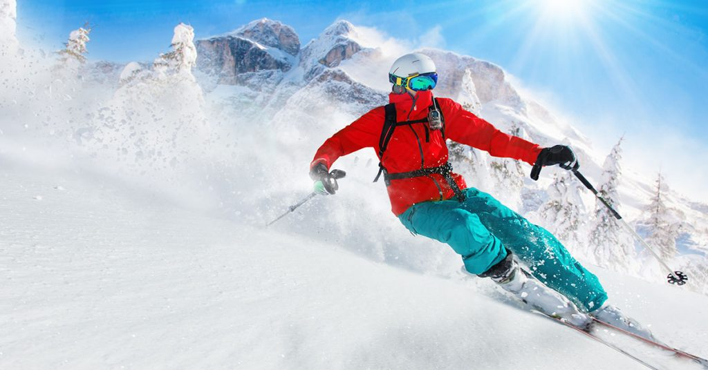 fit v zime - lyžiar