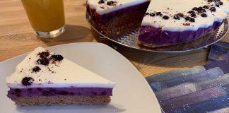 Tvarohovo čučoriedková torta s proteínom