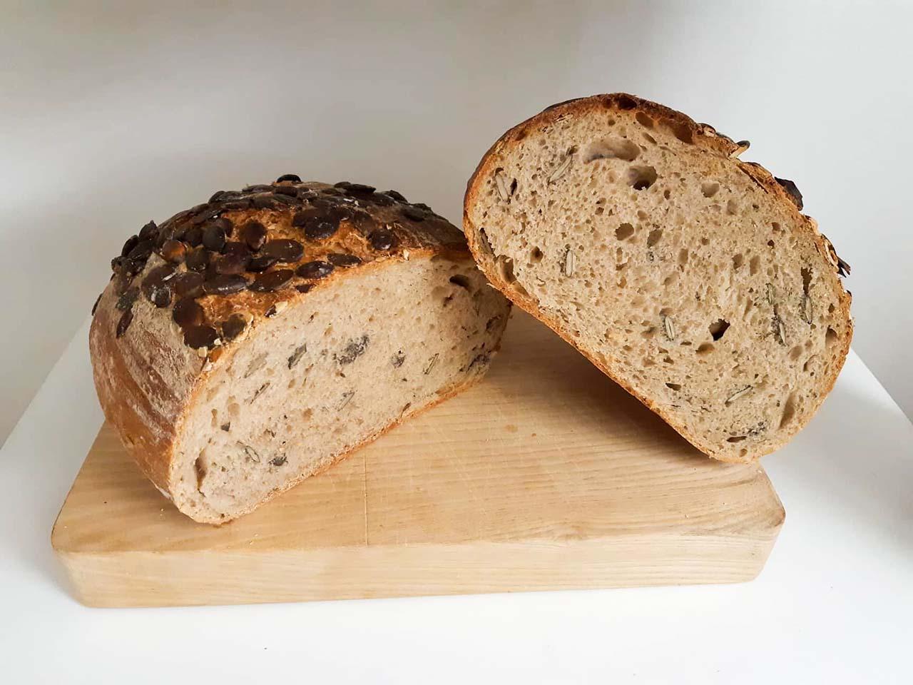 kváskový tekvicový chlieb recept