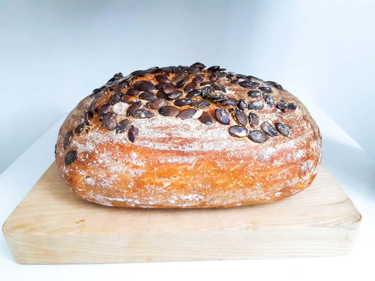 kváskový tekvicový chlieb