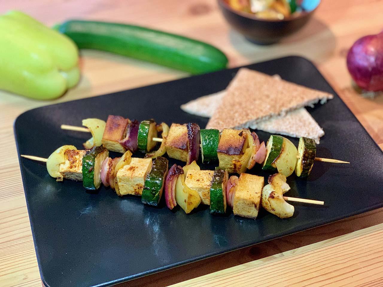 Zeleninové špízy s tofu