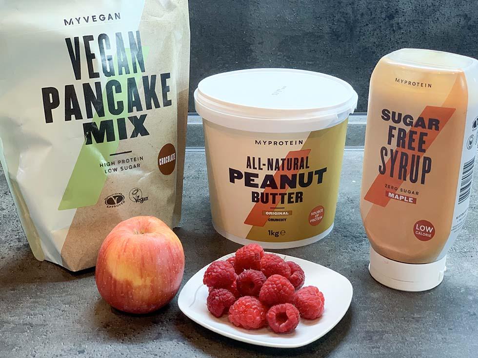 proteínové lievance - ingrediencie