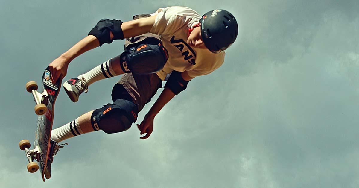 ochranné pomôcky pre sporty - skateboard