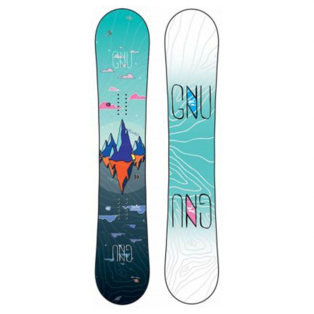 najlepšie snowboardy - Snowboard GNU Asym Velvet C2 s viazaním Fastec