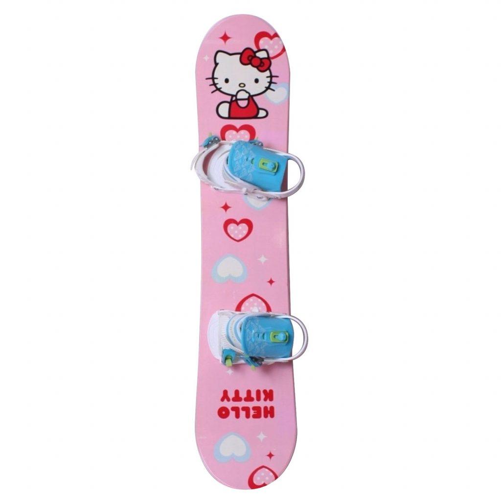 najlepšie snowboardy - Snowboardový set Hello Kitty s viazaním SnowPro